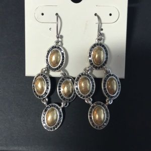 Lucky Brand Drop Earrings With A Bit of Bling
